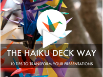 ten tips for Haiku Deck Presentations